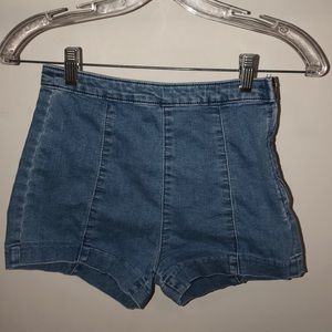 Denim high waisted shorts from H&M